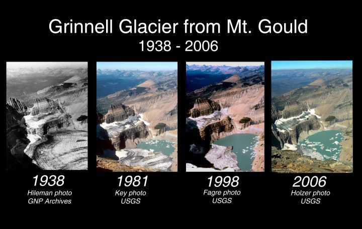 Fotos calentamiento global en los glaciares (1/2)